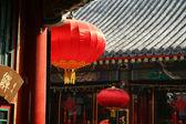 Red tradtional lanterns — Stock Photo