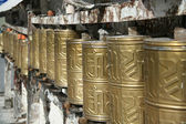 Golden cylinders — Stock Photo