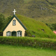 Icelandic turf church — Stock Photo