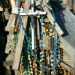Stock Photo: Crosses with beads