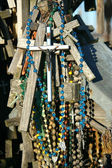 Crosses with beads — Stock Photo