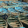 Blue wooden boats — Stock Photo #1445378