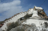 White stupa in Lhasa — Stock Photo