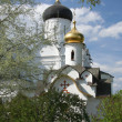 Ancient monastery in spring - Stock Photo