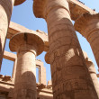 Columns of Karnak Temple at Luxor, Egypt - Stock Photo