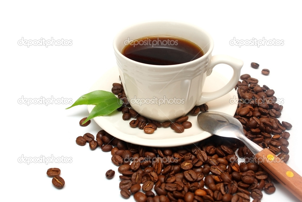 Cup of coffee isolated on white — Stock Photo #1409258