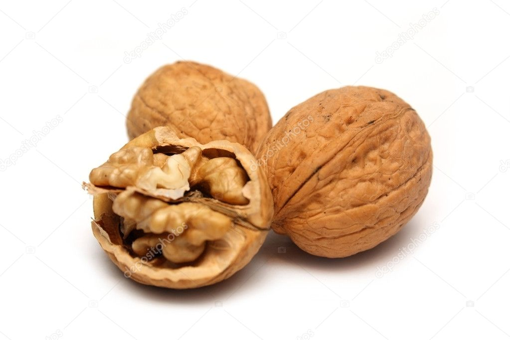 Walnuts on white — Stock Photo #1414118