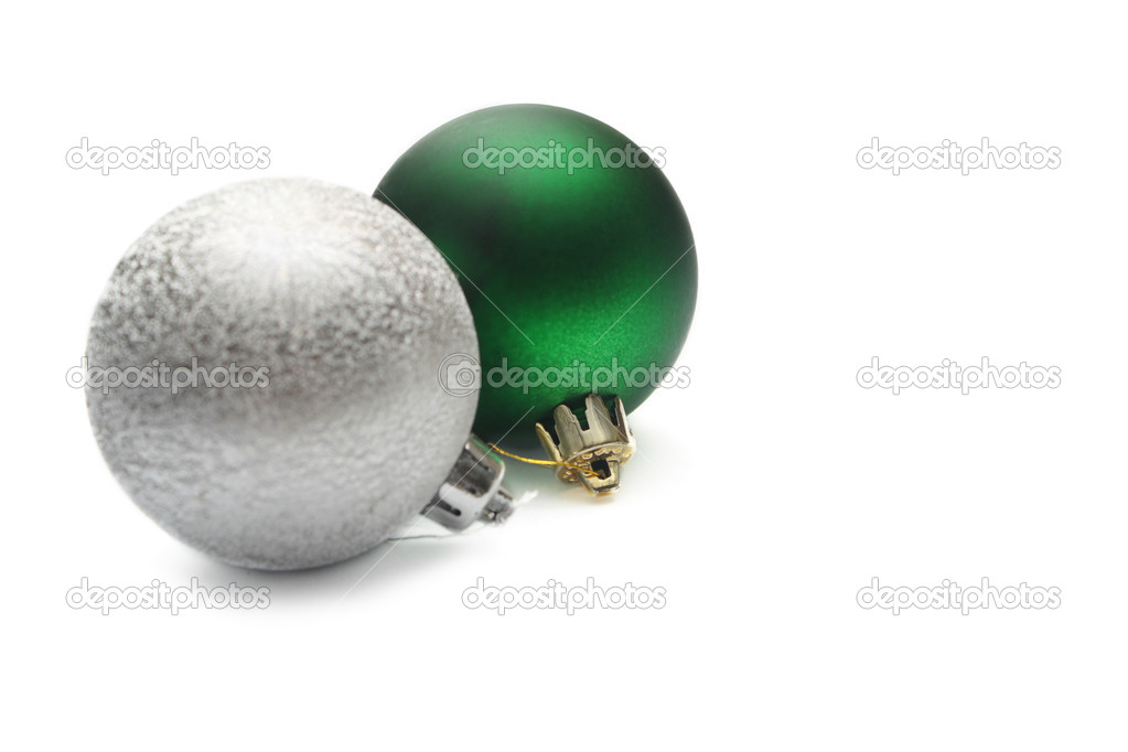 Christmas balls isolated on white — Stock Photo #1414561