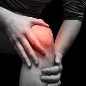Man with knee pain — Foto Stock