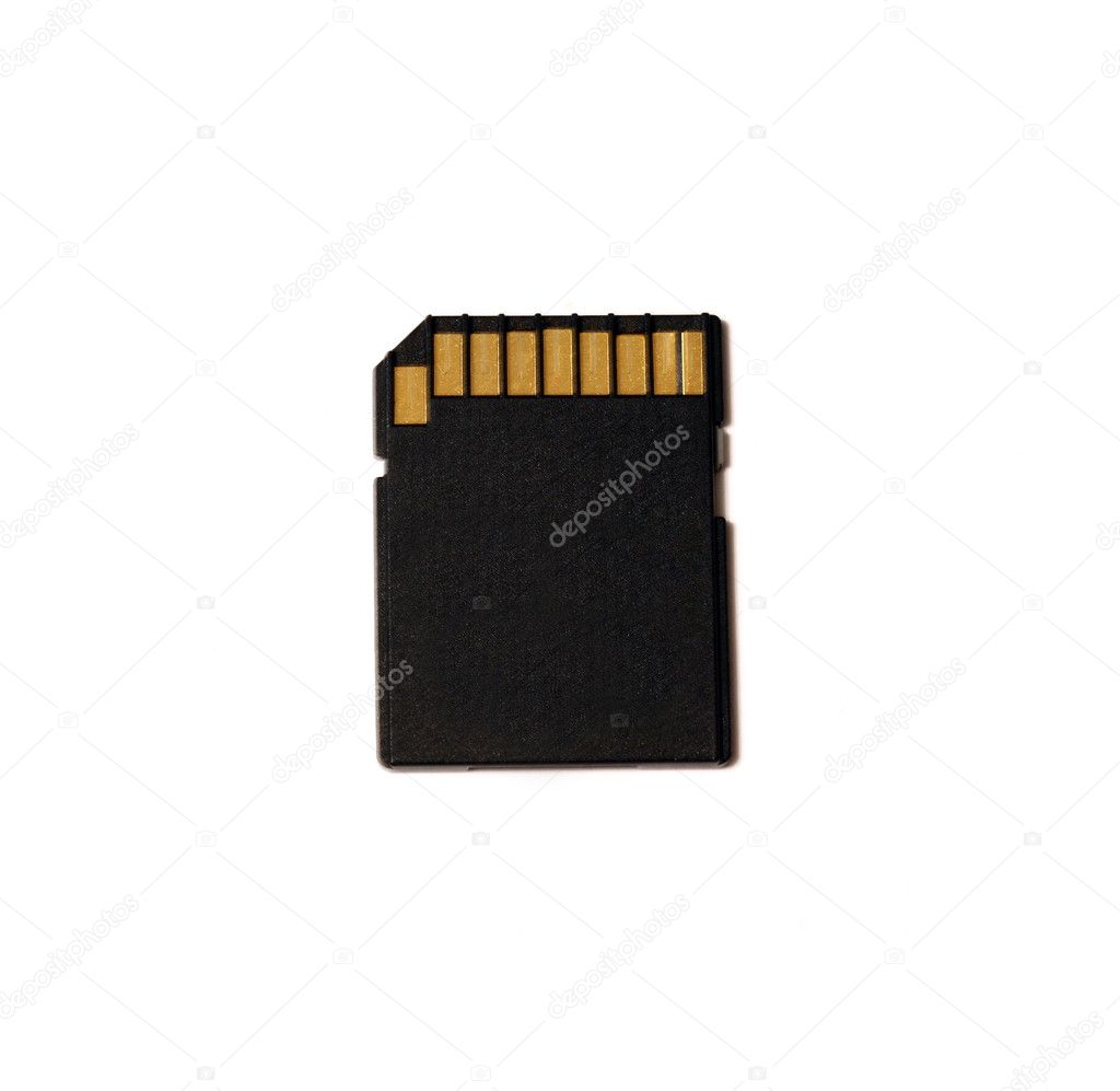 Sd memory card isolated on white  Stock Photo #1428975