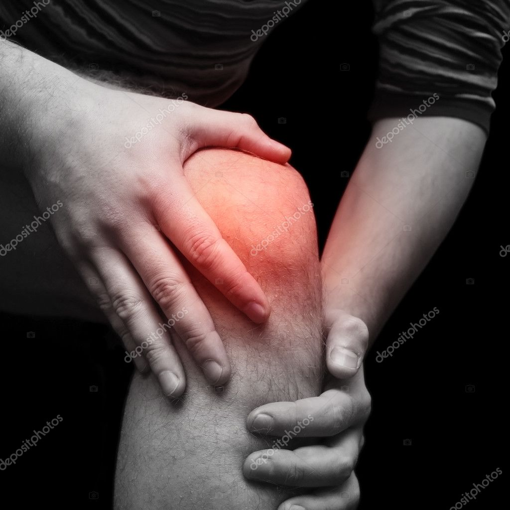 Man with knee pain — Stock Photo #1429163