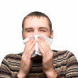 Young man having flu or allergy — Stock Photo