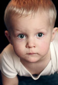 Portrait of serious baby boy — Stock Photo