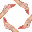 Circle made of hands — Stock Photo #1440111