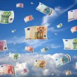 Flying money — Stock Photo