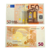 50 euro banknote — Stock Photo