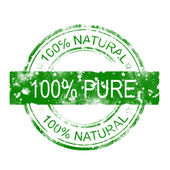 100% pure stamp — Foto de Stock