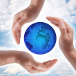 Royalty-Free Stock Photo: Globe in human hand