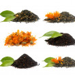 Set of different tea's — Stock Photo