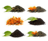 Set of different tea's — Stockfoto