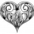 Royalty-Free Stock Vektorfiler: Ornamental heart