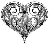 Corazón ornamental — Vector de stock