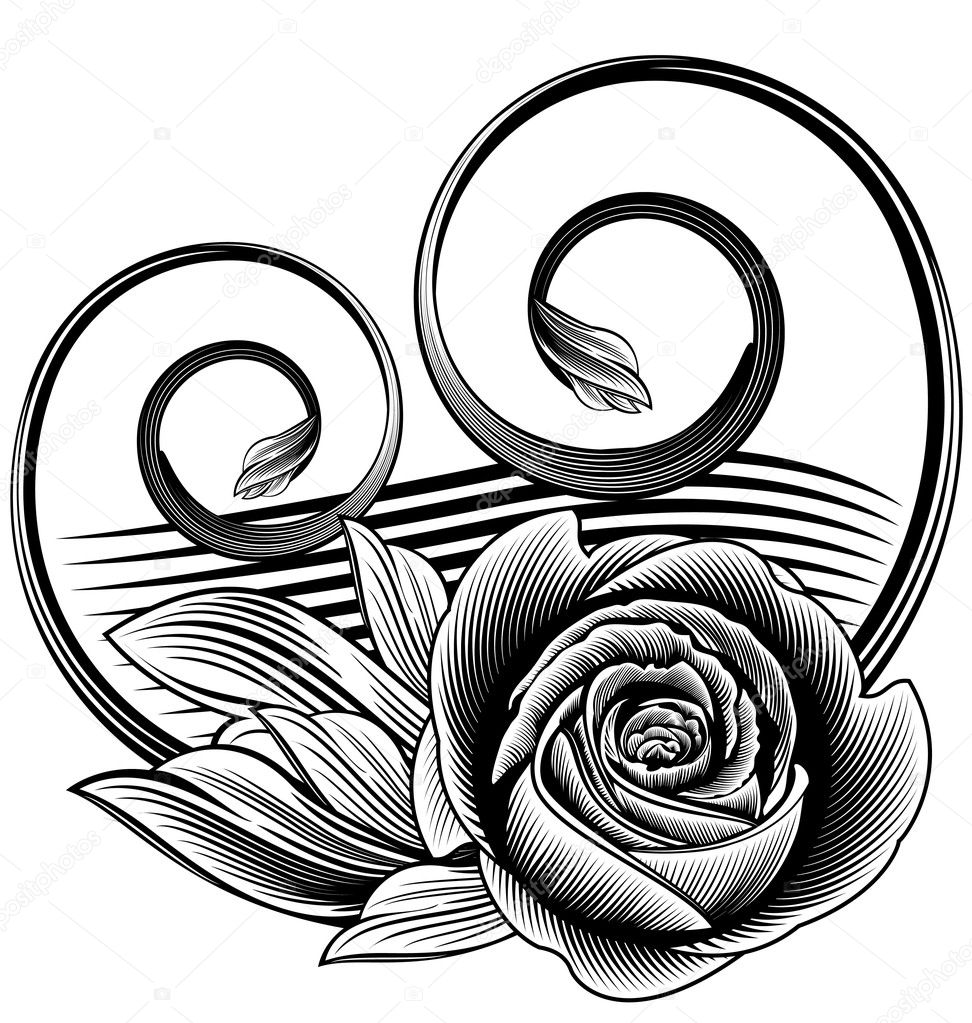 Ornamental rose — Stock Vector #1392270