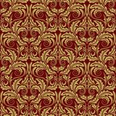 Red seamless wallpaper — Stock Vector