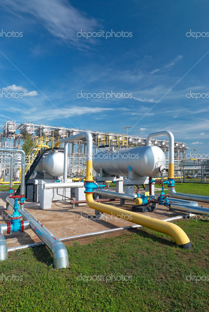 Oil and gas industry. Gas processing factory  Stock Photo #1823480