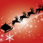 Santa in his sleigh — Stock Photo #1400158