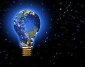 Earth Bulb — Stock Photo