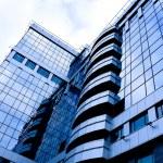 blivande Visa till nya moderna byggnad — Stockfoto