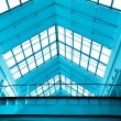 Royalty-Free Stock Photo: Abstract blue geometric ceiling