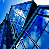Angled business skyscraper — Stock Photo