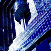 Abstrato parede futurista — Fotografia Stock