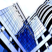 Dwelling place of skyscraper building — Stock Photo