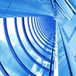 Blue futuristic corridor — Stock Photo #1428057
