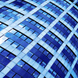 Blue abstract crop of modern office — Stock Photo