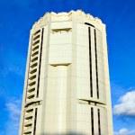 Futuristic building skyscrapers — Stock Photo