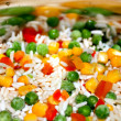 Quickly frozen vegetable mixture — Stock Photo