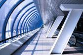 Cosmic airport interior — Stock Photo