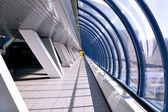 Diminishing hall inside metro station — Stock Photo