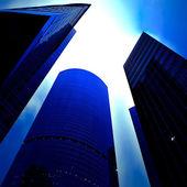 вид снизу на небоскребы бизнес — Стоковое фото