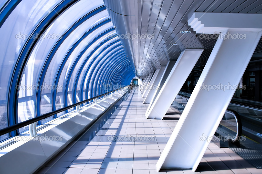 Cosmic airport interior — Stock Photo #1421212