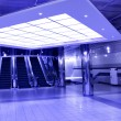 Moving escalator in the office hall — Stock Photo #1431235