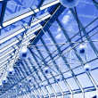 Stock Photo: Abstract blue geometric ceiling