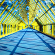 Yellow glass corridor in office — Stock Photo #1433151