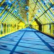 Yellow glass corridor in office — Stock Photo