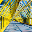 Royalty-Free Stock Photo: Abstract yellow Tunnel in office