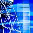 Stock Photo: Blue building abstract detail
